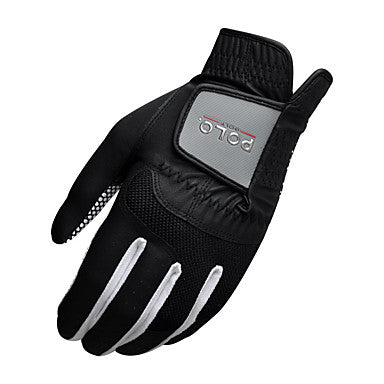 Full Finger Gloves Men's Breathable Anti-Slip Wearproof Golf Glove PU Leather Polyester White Black Golf Leisure Sports Outdoor / Lycra / Sweat-wicking