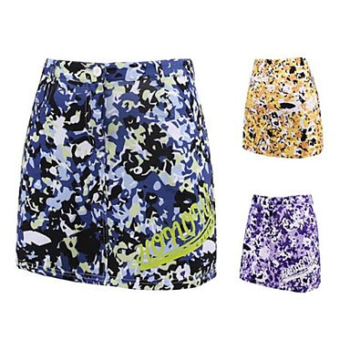 Women's Skirt Golf Sports & Outdoor Autumn / Fall Spring Summer / Spandex / Stretchy / Floral Botanical