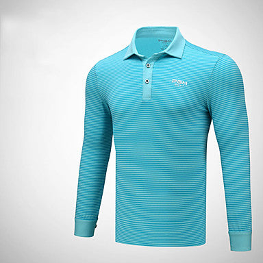 Men's Tee / T-shirt Golf Autumn / Fall Spring Summer / High Elasticity / Breathable / Solid Color