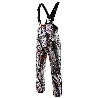 Men's Women's Camo Hunting Jacket with Pants Outdoor Fleece Lining Warm Anti-Wear Clothing Suit Spring Fall Cotton 100% Polyester Hunting, Fishing, Camping / Hiking / Caving
