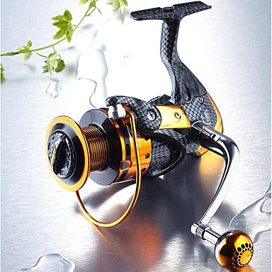 Fishing Reel Bearing Spinning Reel 5.1:1 Gear Ratio+13 Ball Bearings Hand Orientation Exchangable Sea Fishing / Freshwater Fishing / Lure Fishing - TT4000 / General Fishing / Trolling & Boat Fishing