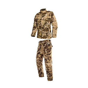 Men's Women's Unisex Camo / Camouflage Hunting Jacket with Pants Outdoor Breathable Comfortable Spring Fall Winter Cotton Clothing Suit Hunting Yellow L XL XXL