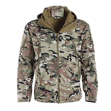 Men's Women's Unisex Camo / Camouflage Camouflage Hunting Jacket Outdoor Waterproof Breathable Ultraviolet Resistant Dust Proof Spring Summer Fall Jacket Softshell Jacket Winter Jacket Camping