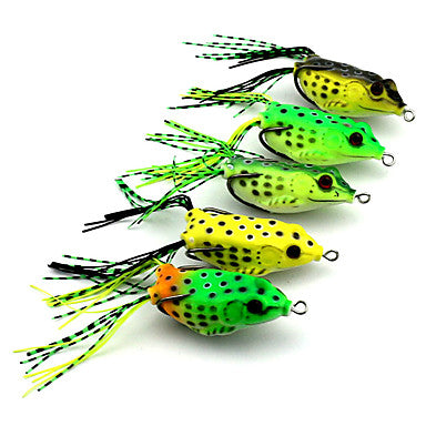 5 pcs Fishing Lures Soft Bait Soft Plastic Floating Bait Casting Lure Fishing General Fishing / Trolling & Boat Fishing