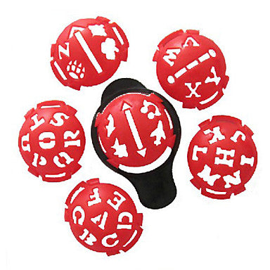 Golf Ball Marker / Golf Ball Alignment Tool / Golf drawing machine Plastic for Golf - 10pcs
