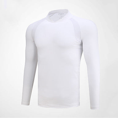 Men's Tee / T-shirt Long Sleeve Golf Outdoor Autumn / Fall Spring Winter / Spandex / Stretchy / Quick Dry / Moisture Wicking / Breathable