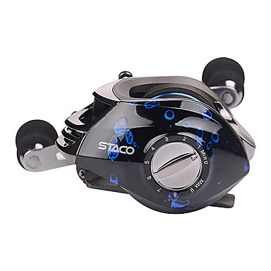 Fishing Reel Baitcasting Reel 6.31 Gear Ratio+14 Ball Bearings Right-handed / Left-handed Sea Fishing / Bait Casting / Ice Fishing - STACO 200 / Fibre Glass / Spinning / Jigging Fishing