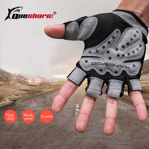 Fitness Gloves Gym Half Finger Gloves Hollow-out Running Cycling Gym Fitness Training Workout Gloves Exercise Weight Lifting - Manu-Health  & Beauty