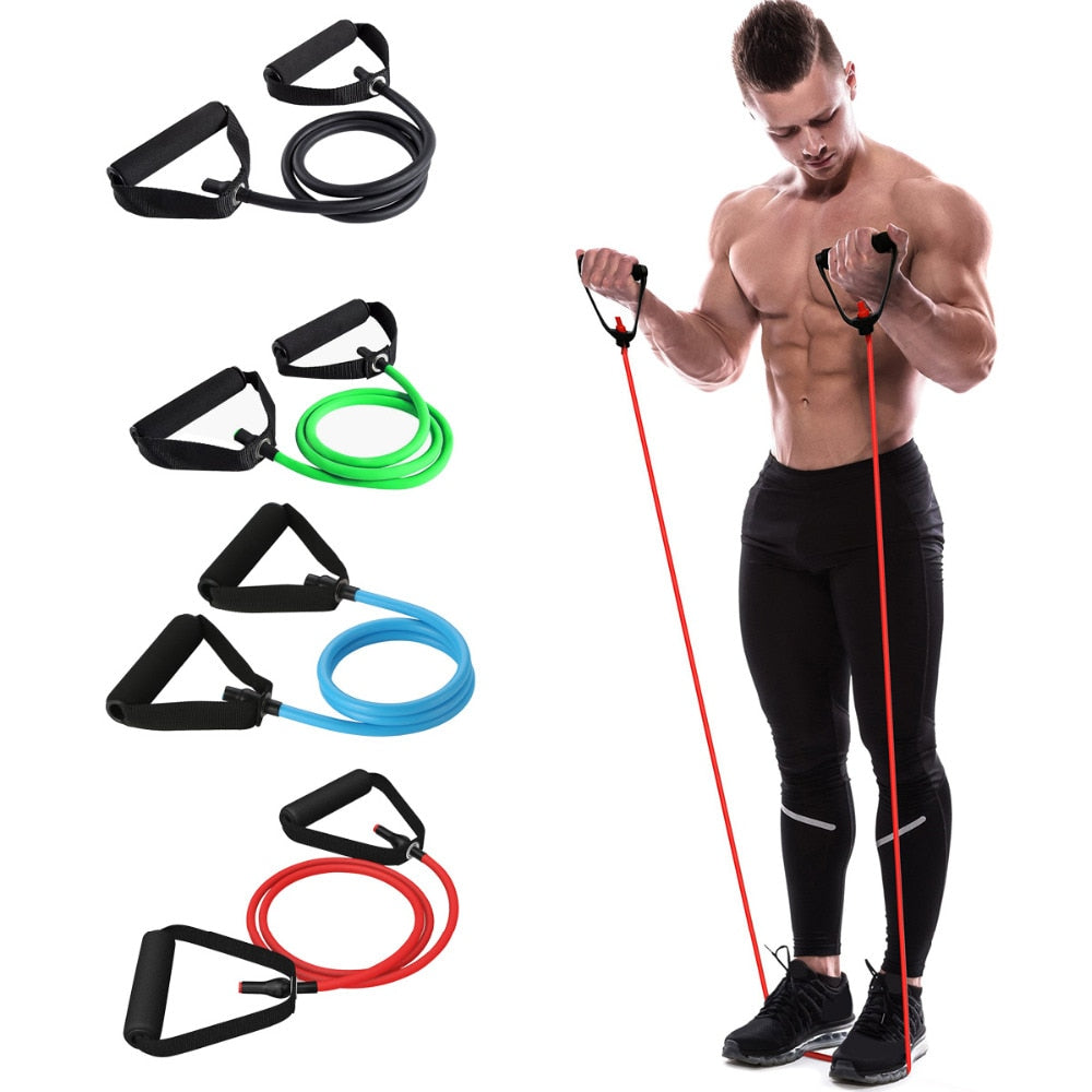 Yoga Pull Rope Elastic Resistance Bands Fitness Crossfit Workout Exercise