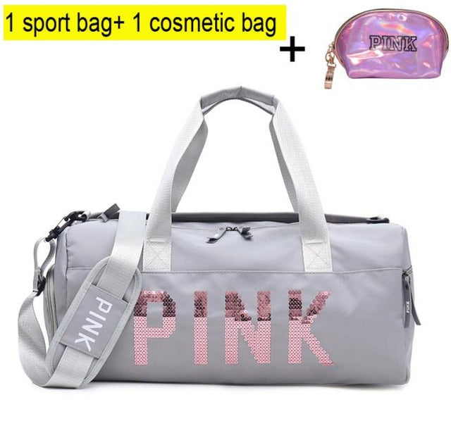 Gym Bag Women Shoe Compartment Waterproof Sport Bags for Fitness Training Yoga - Manu-Health  & Beauty