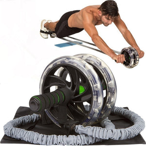 Ab Roller Wheel Pull Rope Waist Abdominal Slimming Fitness Outdoor  wheel Training - Manu-Health  & Beauty