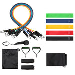 Pilates Resistance Band Set Exercise Fitness Tube Workout Bands - Manu-Health  & Beauty