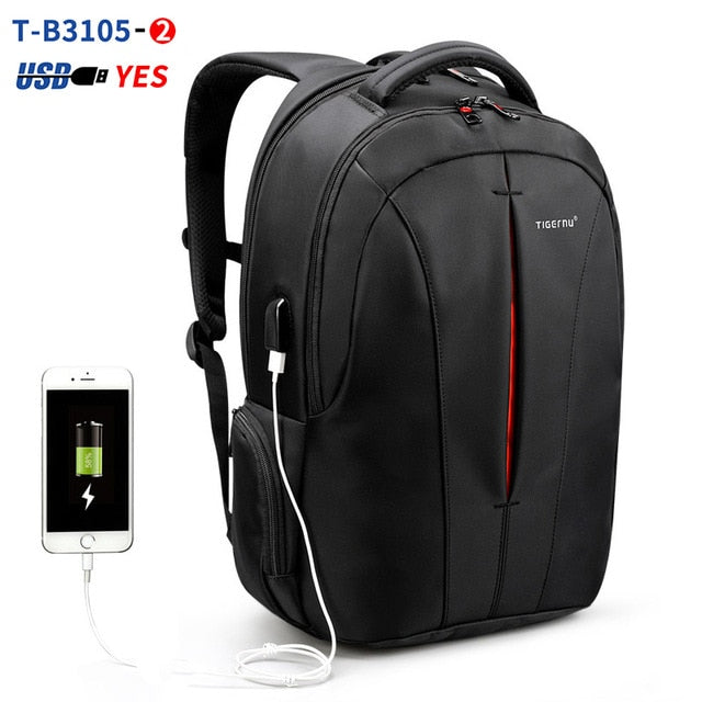 Tigernu Splashproof 15.6inch Laptop Backpack NO Key TSA Anti Theft Men Backpack Travel Teenage Backpack bag male bagpack mochila - Manu-Health  & Beauty