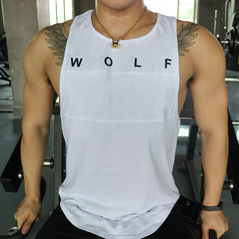 Men's Sleeveless Vests New Shirt Sweat Solid Color Round Collar Breathable Tank Tops Bodybuilding Workout Singlet - Manu-Health  & Beauty