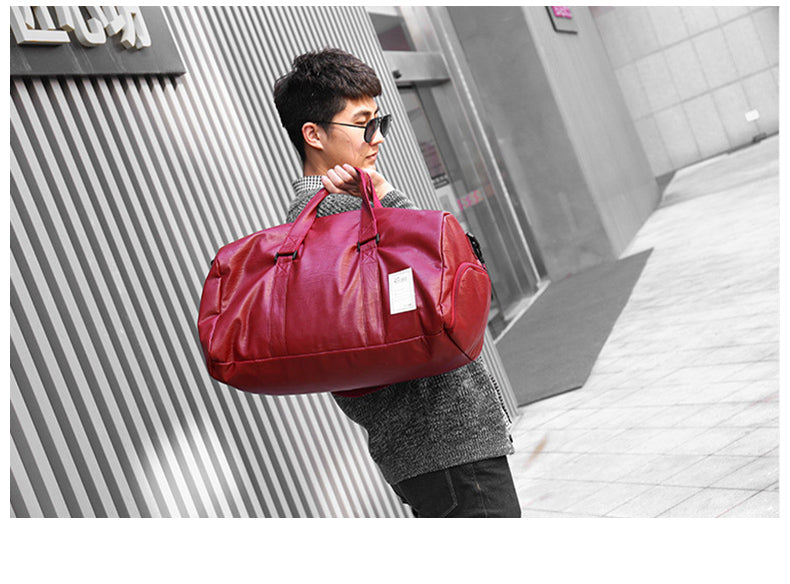 Gym Bag Leather Sports Bags Big Men Training Tas for Shoes Lady Fitness Yoga Travel Luggage Shoulder Black Sac De Sport XA512WD - Manu-Health  & Beauty