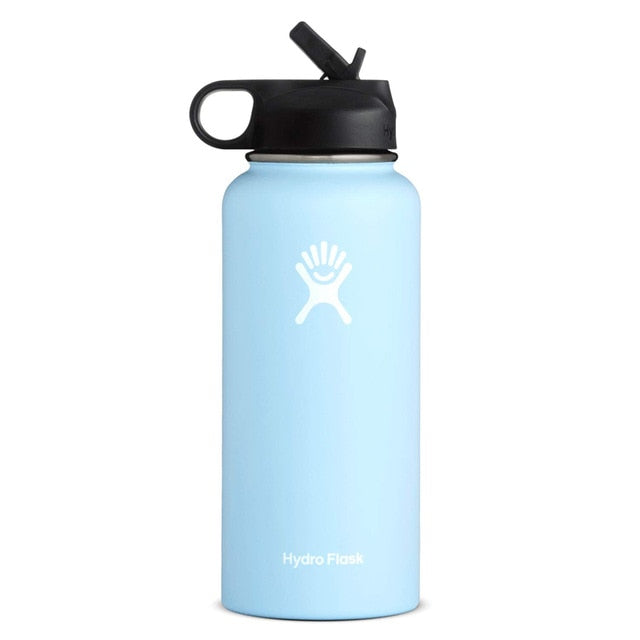 (Frost) 32/40oz Stainless Steel Water Bottle Hydro Flask Water Bottle Vacuum Insulated Wide Mouth Travel Portable Thermal Bottle - Manu-Health  & Beauty