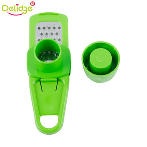 Delidge Candy Color Kitchen Accessories Plastic Ginger Garlic Grinding Tool Magic Silicone Peeler Slicer Cutter Grater Planer - Manu-Health  & Beauty