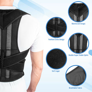 Corset Back Posture Corrector Therapy Shoulder Lumbar Brace Spine Support - Manu-Health  & Beauty