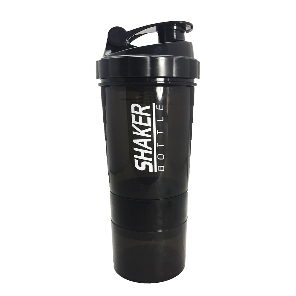 NEW Sports Shaker Bottle Whey Protein Powder Mixing Bottle Sports Nutrition Protein Shaker Fitness Water Bottle With Three-layer - Manu-Health  & Beauty