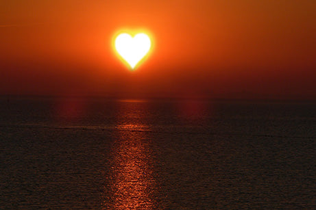 Sun in a heart shape