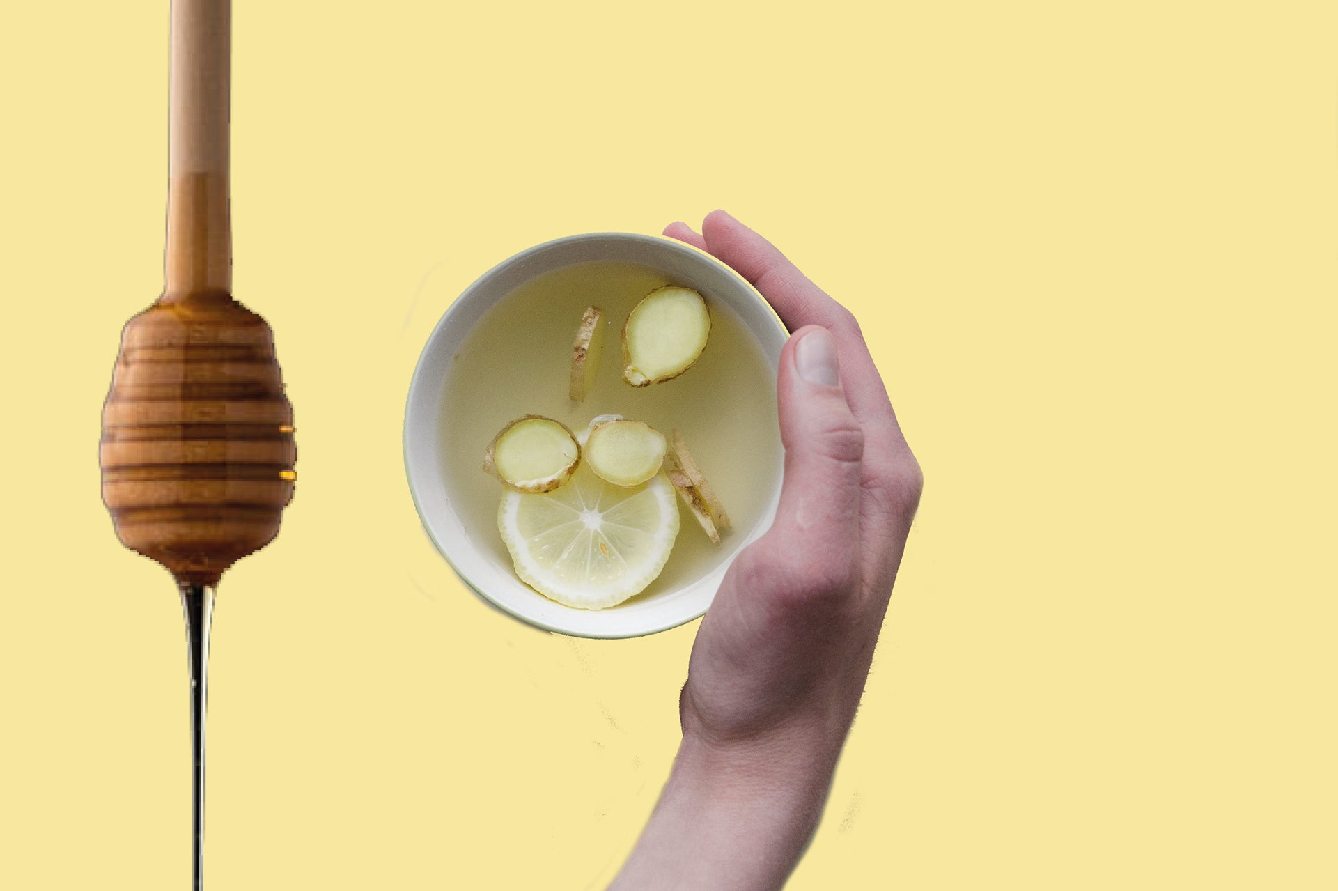 Lemon and honey, which both have health benefits