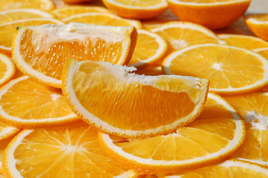 Vitamin C-rich oranges