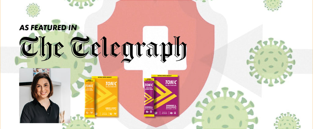 TONIC HEALTH FEATURES IN THE TELEGRAPH: