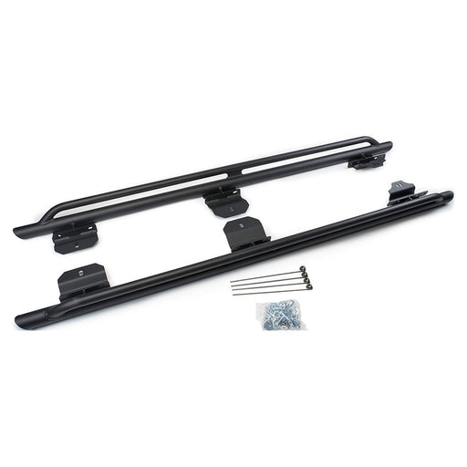 WARN BLACK ROCK SLIDERS FOR '07-'18 JEEP WRANGLER (4-DOOR) (74575) - Wreckless Motorsports
