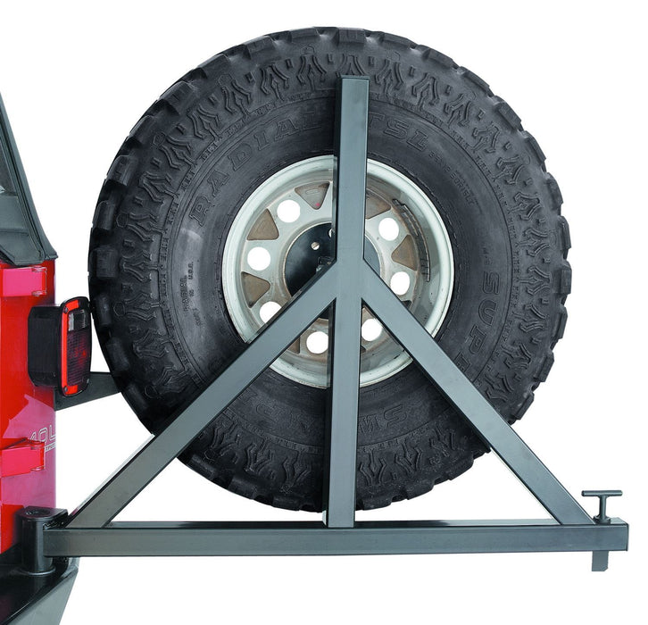 WARN SPARE TIRE CARRIER FOR '07-'18 JEEP WRANGLER (74299) - Wreckless Motorsports