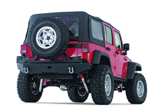 WARN ROCK CRAWLER REAR BUMPER FOR JEEP JK WRANGLER (74300) - Wreckless Motorsports