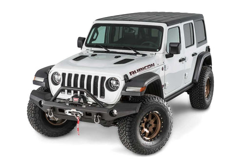 WARN ELITE FULL WIDTH BUMPER WITH GRILLE GUARD TUBE FOR JL & JT (101337) - Wreckless Motorsports
