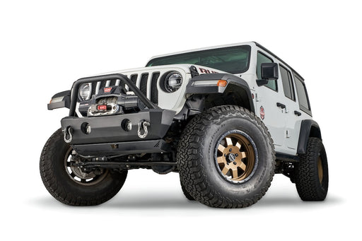 WARN STUBBY CRAWLER BUMPER WITH GRILLE GUARD TUBE FOR JL, JK, & JT (102520) - Wreckless Motorsports