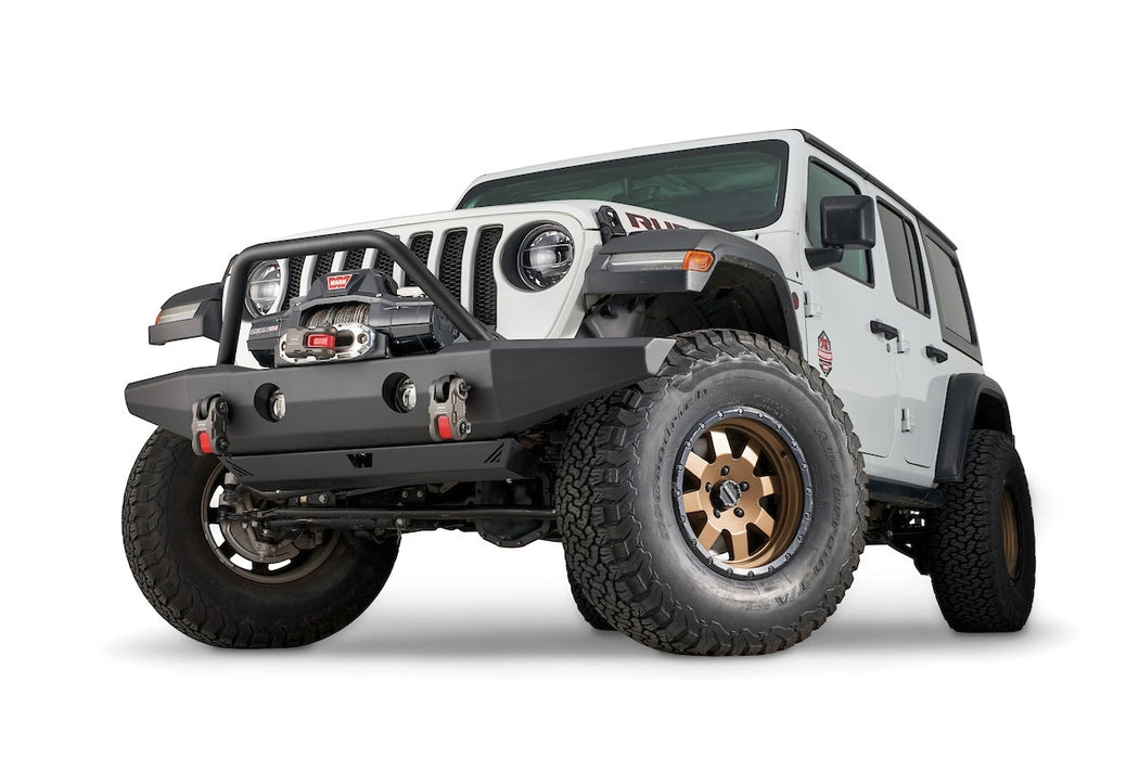 WARN FULL-WIDTH CRAWLER BUMPER WITH GRILLE GUARD TUBE FOR JL, JK, & JT (102146) - Wreckless Motorsports