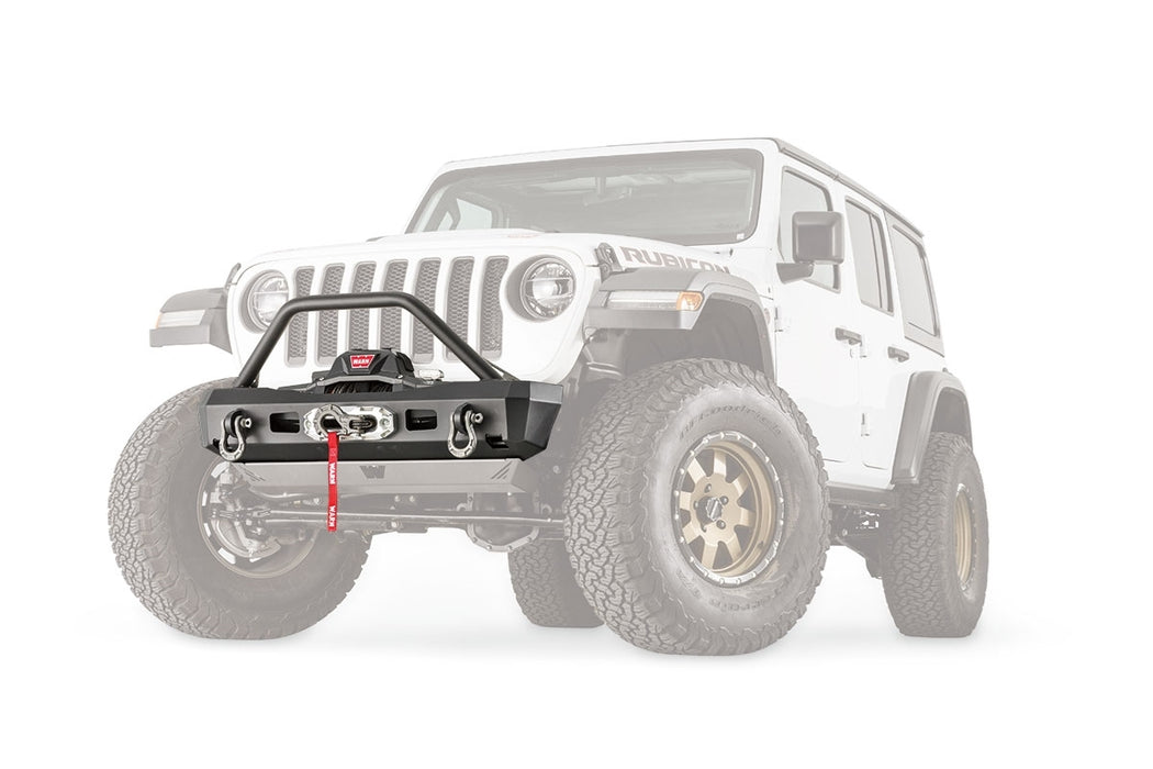 WARN ELITE STUBBY BUMPER WITH GRILLE GUARD FOR JL & JT (101330) - Wreckless Motorsports