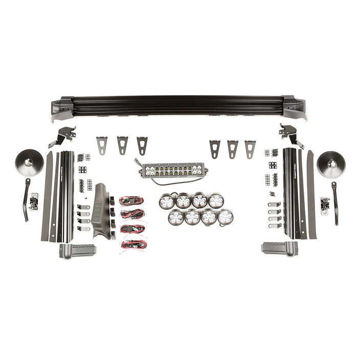 Rugged Ridge Elite Fast Track Kit, 1 Bar/8 Rounds/Mirrors; 07-18 Jeep Wrangler JK (11232.55) - Wreckless Motorsports