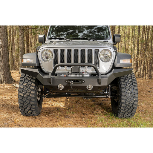 Rugged Ridge HD Bumper, Full Width, Front; 07-18 JK, 18-19 JL, 2020 JT - Wreckless Motorsports