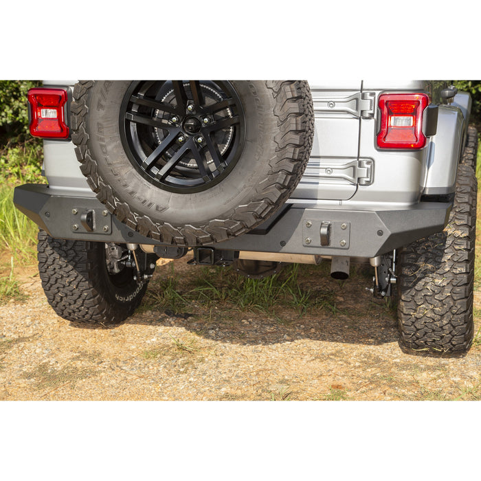 Rugged Ridge Spartan Rear Bumper, Full Width; 18-19 Jeep Wrangler JL - Wreckless Motorsports