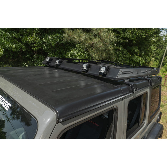 Rugged Ridge Roof Rack, with Basket; 18-20 JL 4Dr Hardtops - Wreckless Motorsports