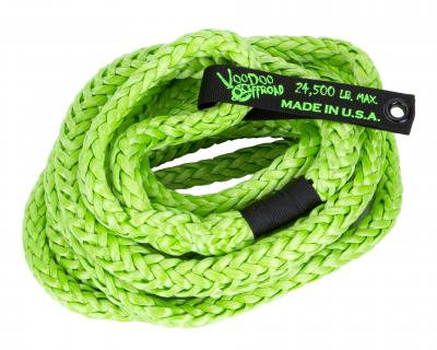 Voodoo Offroad KINETIC RECOVERY ROPE TRUCK/JEEP 3/4 INCH X 20 FOOT GREEN WITH ROPE BAG - Wreckless Motorsports