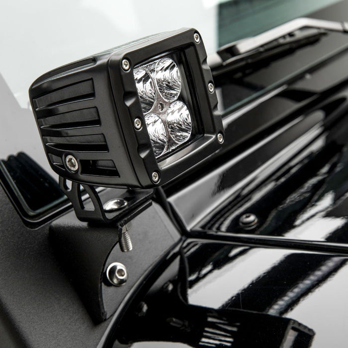 ARIES Jeep JK Windshield Lights and Brackets (1501304) - Wreckless Motorsports