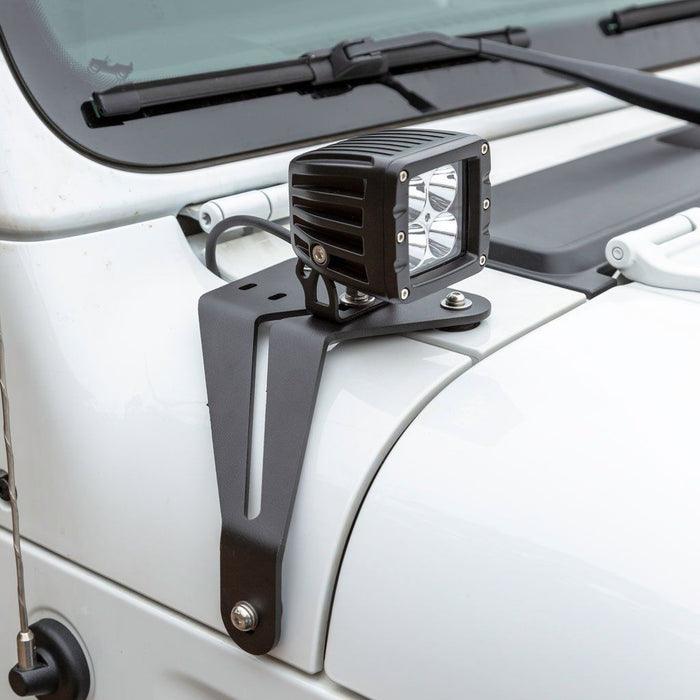ARIES Jeep Wrangler JL, Gladiator Windshield Lights and Brackets (1501305) - Wreckless Motorsports