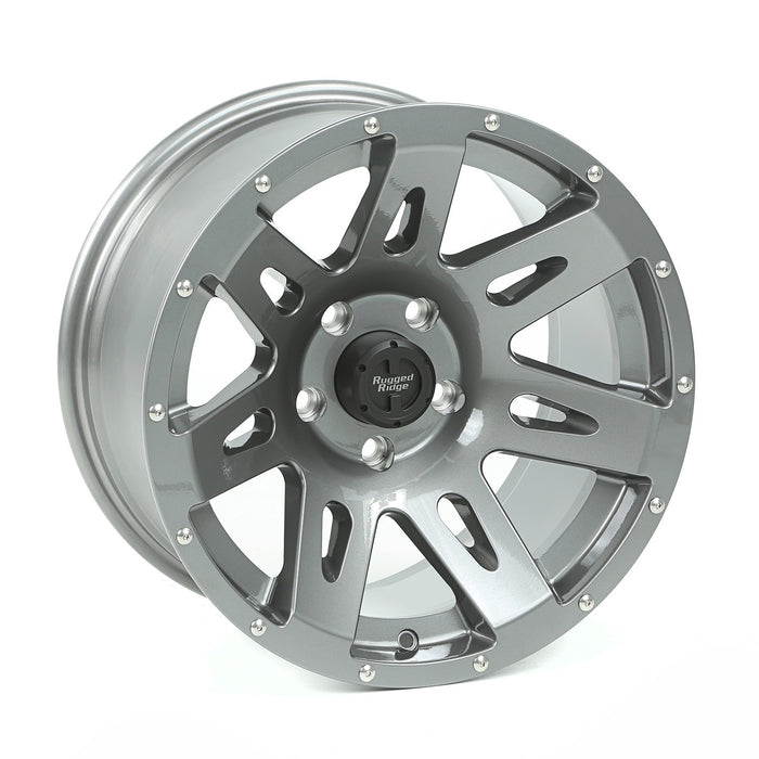 Rugged Ridge XHD Wheel, Gun Metal, 17x9 5 on 5; JK/JL/JT - Wreckless Motorsports