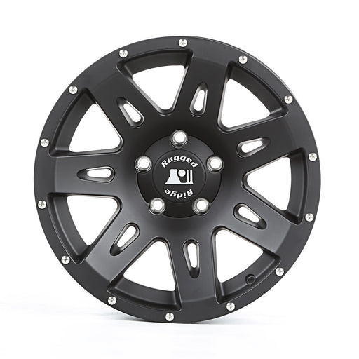 Rugged Ridge XHD Wheel, 17x8.5, Black Satin; 07-19 JK/JL - Wreckless Motorsports