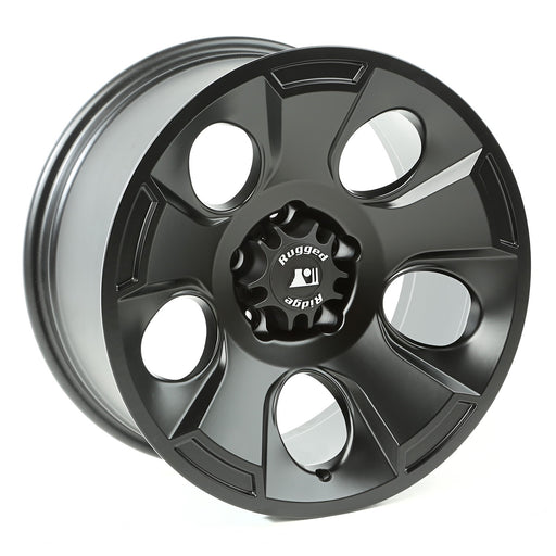 Rugged Ridge Drakon Wheel, 18x9, Black Satin; 07-20 Jeep JK/JL/JT - Wreckless Motorsports