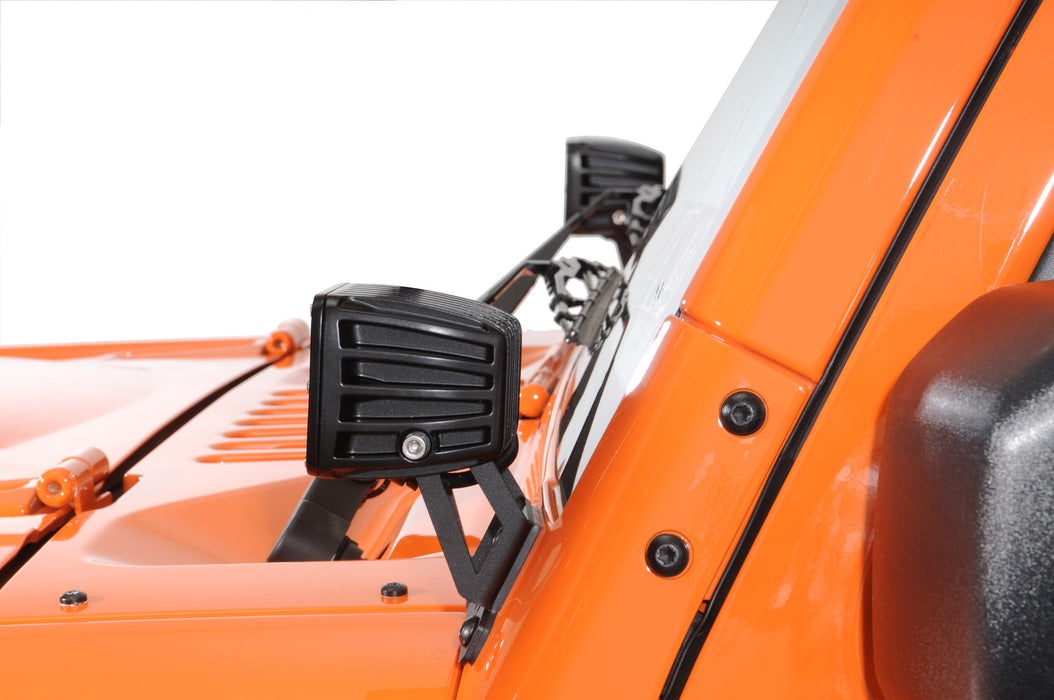 Rigid Industries JEEP JK A-PILLAR MOUNT FITS D-SERIES (40331) - Wreckless Motorsports