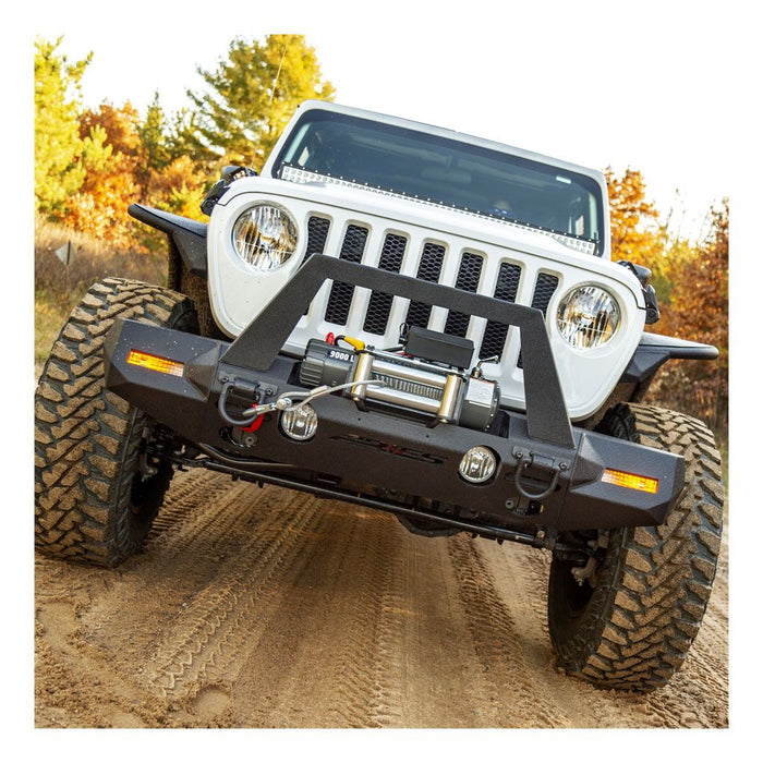 ARIES TrailChaser Jeep Wrangler JL Front Bumper (Option 9) (2082089) - Wreckless Motorsports