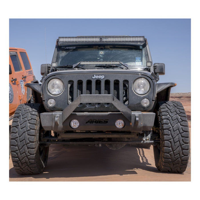 ARIES TrailCrusher Jeep JK Front Bumper (2156000) - Wreckless Motorsports