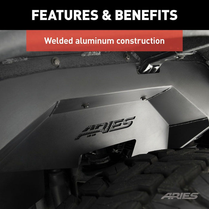 ARIES Jeep JK Inner Fender Liners - Front and Rear (2500450) - Wreckless Motorsports