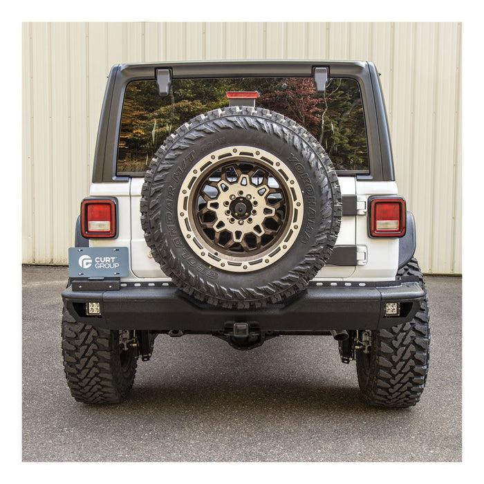 ARIES Jeep Wrangler JL Heavy-Duty Spare Tire Carrier (2563001) - Wreckless Motorsports