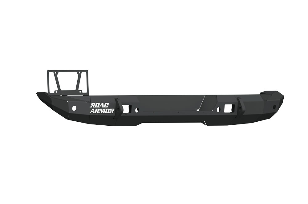 Road Armor Stealth Rear Bumper Mid Width ONLY, W/ Tire Carrier Hole | Texture Black | Jeep JL & JT (5182R1B)